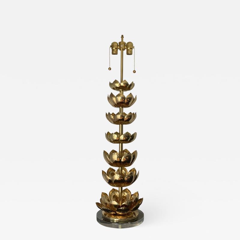 Feldman Lighting Co Brass Lotus Lamp