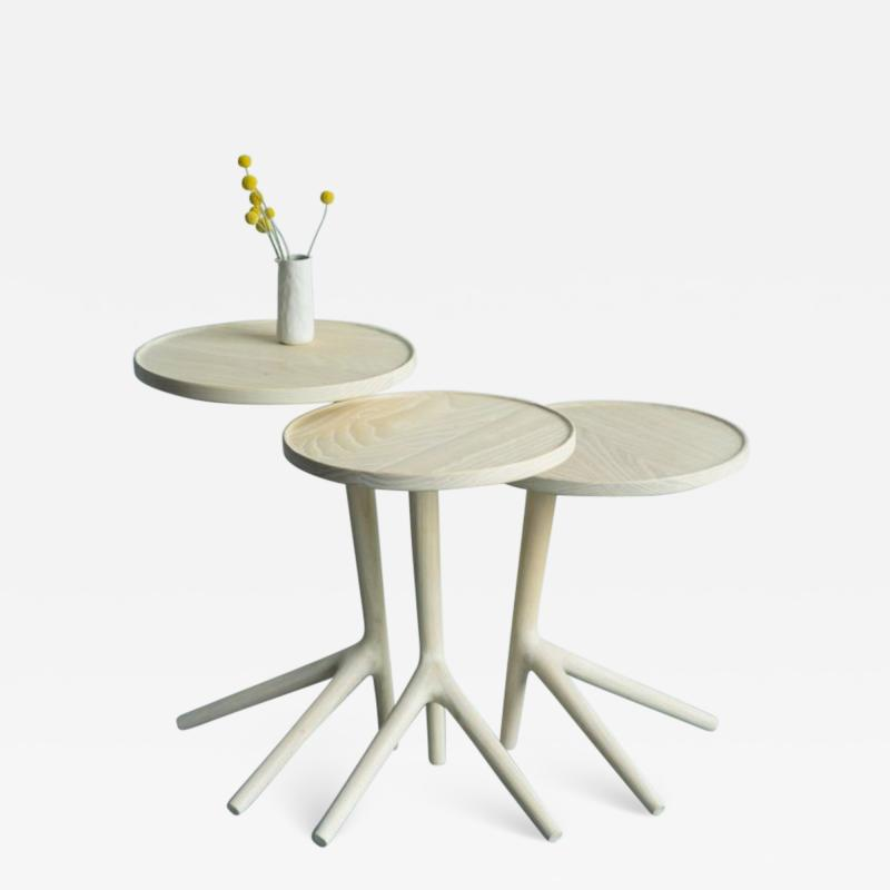 Fernweh Woodworking THE TRIPOD TABLE WHITE ASH