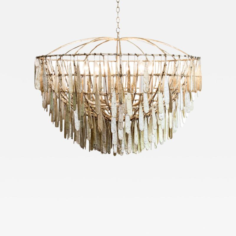Fisher Weisman Gilded Cage Large Round Chandelier