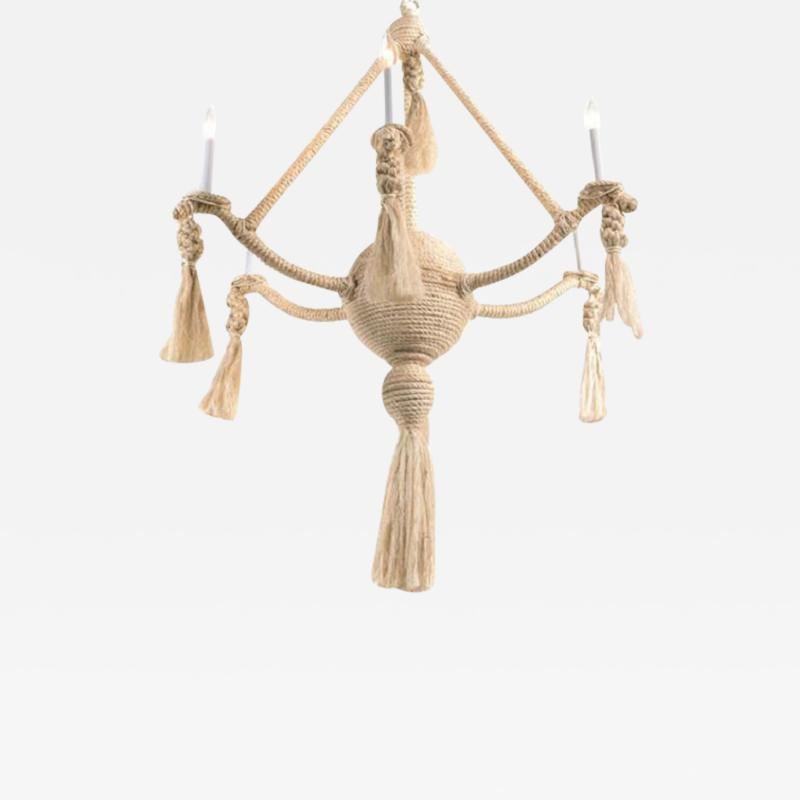 Fisher Weisman Large Rope Chandelier