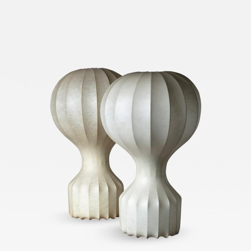 Flos Pair of Gatto Table Lamps by Castiglioni for Flos