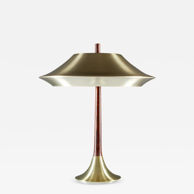 Fog M rup Danish Table Lamp in Rosewood and Metal by Fog M rup