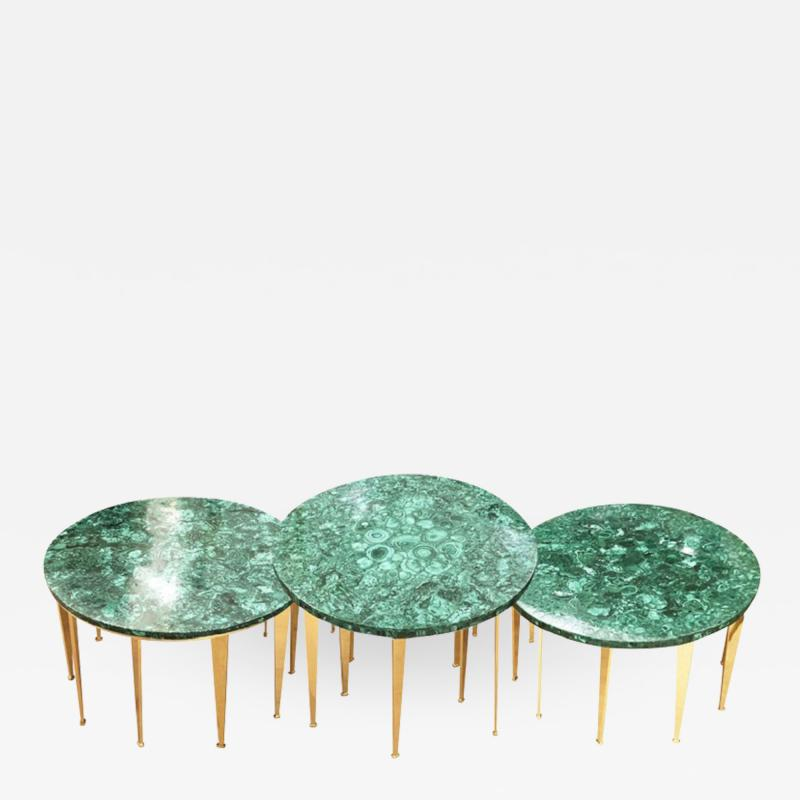 FormA by Gaspare Asaro Malachite Coffee Table or Side Tables by formA for Gaspare Asaro