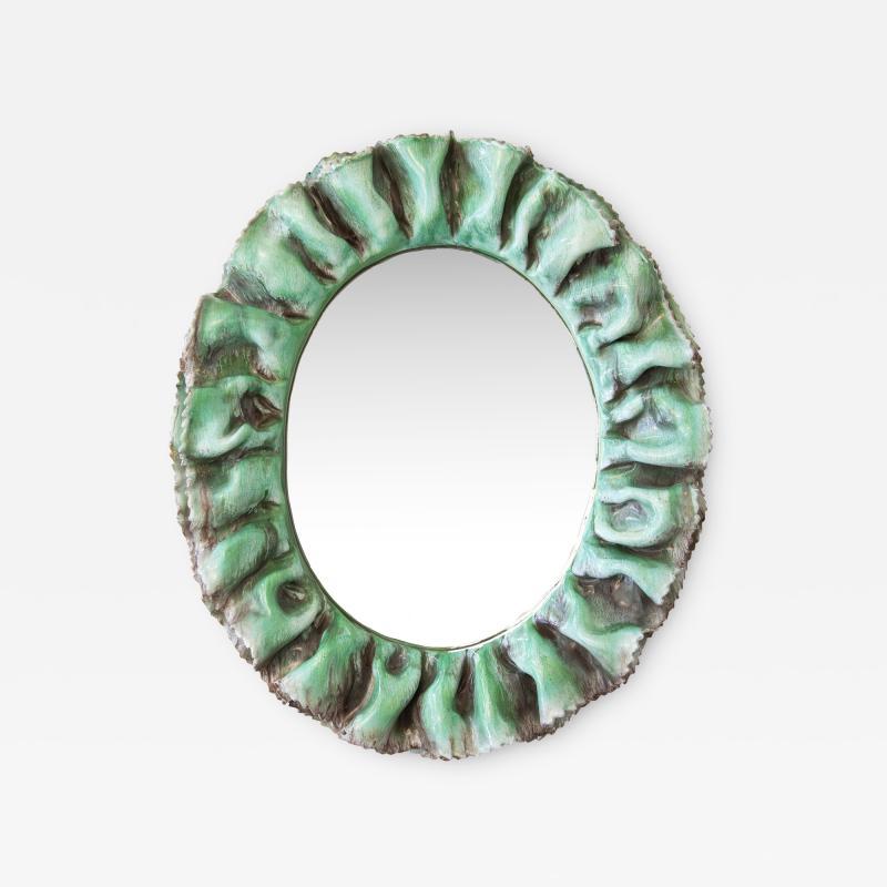 Fornace Farnesiana Mirror with a ceramic frame