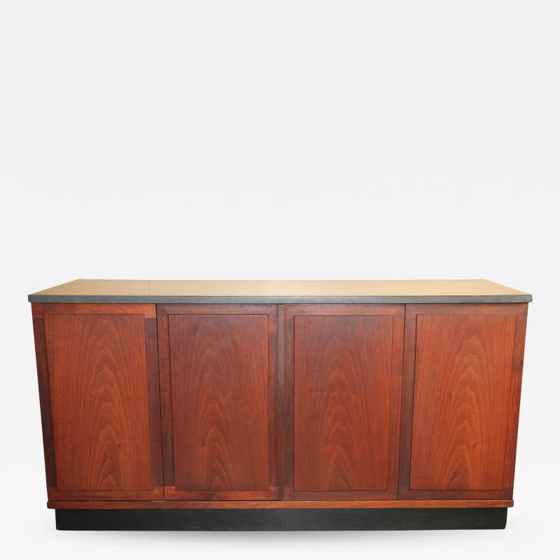 Founders Furniture Company Walnut Credenza with Slate Top designed by Jack Cartwright