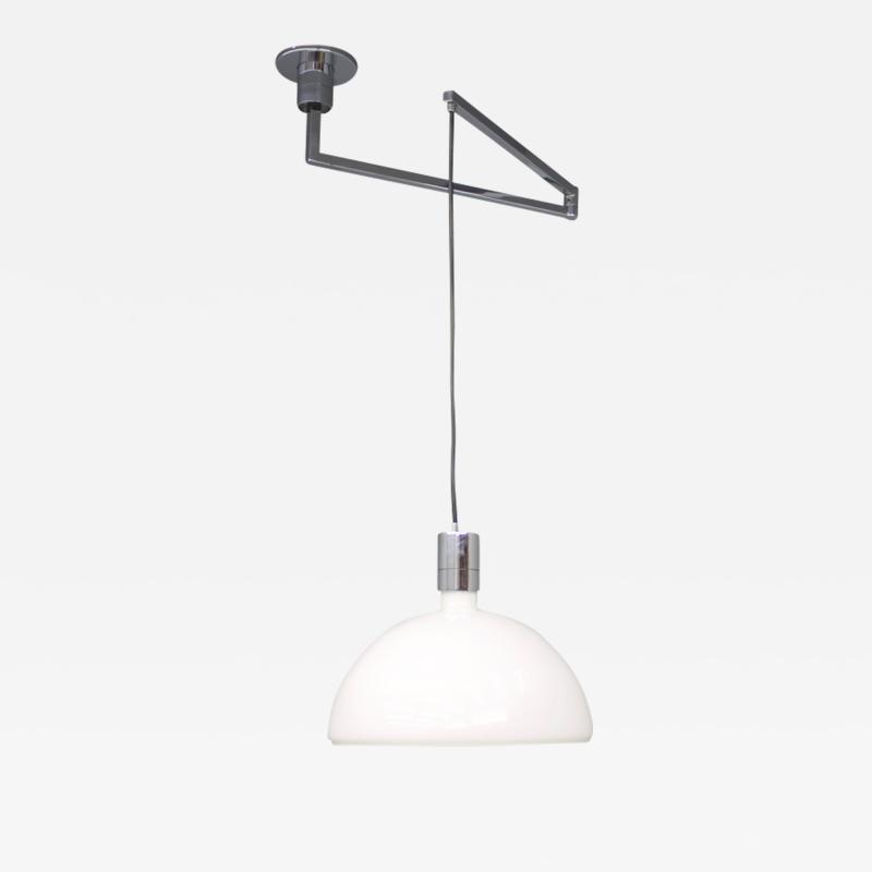 Franco Albini Franca Helg Antonio Piva Sirrah Am as Ceiling Lamp with Swing Arm Glass and Chrome Franco Albini 1960s