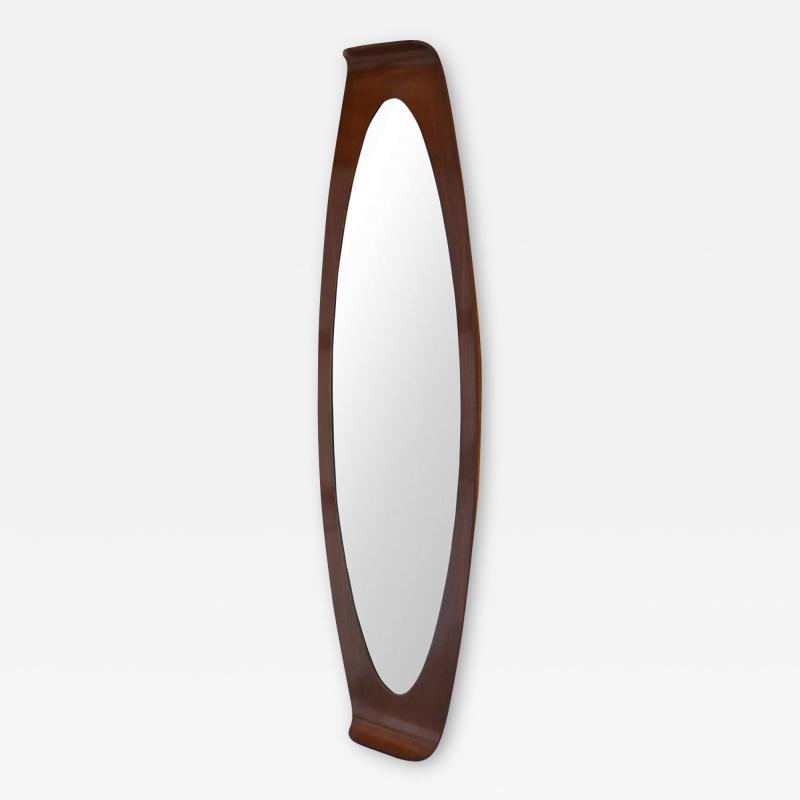 Franco Campo Carlo Graffi Curved Wood Wall Mirror by Campo Graffi