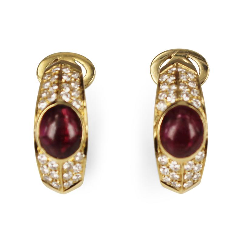 Fred of Paris Fred Paris Ruby and Diamond Earrings