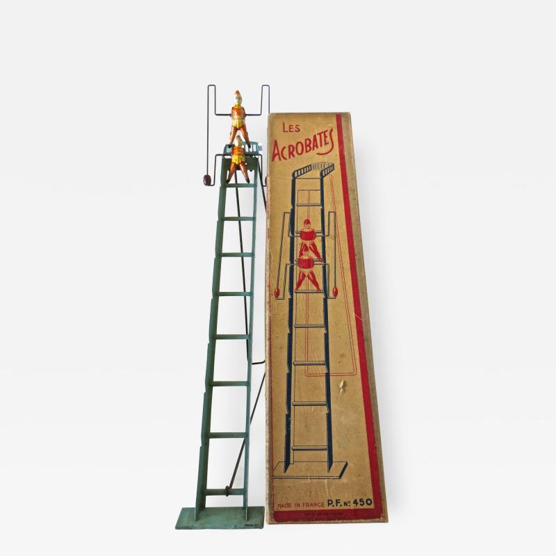 G Doloy Vintage French Toy Les Acrobates Circa 1920