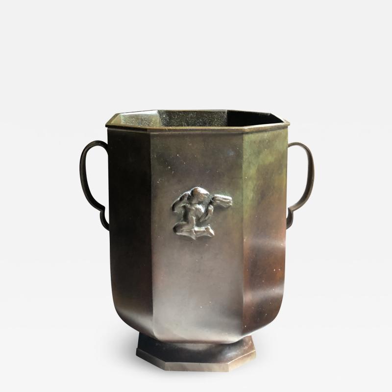 GAB Guldsmedsaktiebolaget Bronze Vase by GAB
