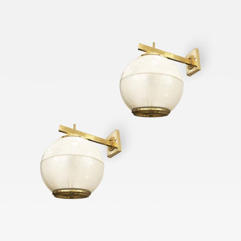 Galassia Pair of Wall Lights by Galassia Italy 1964