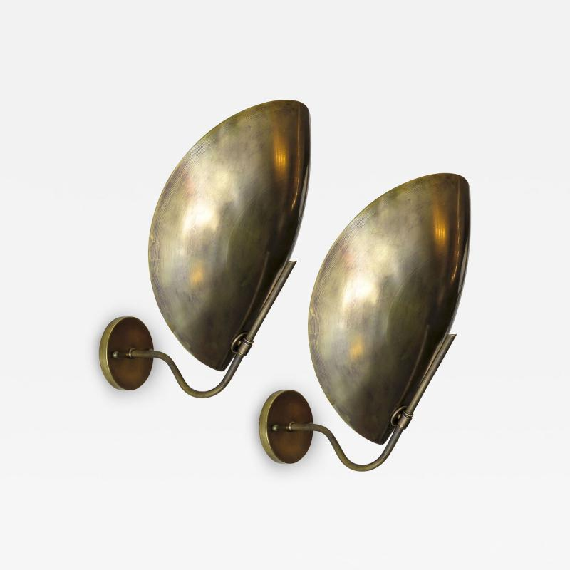 Gallery L7 Raw Brass Beetle Wall Lights by Gallery L7