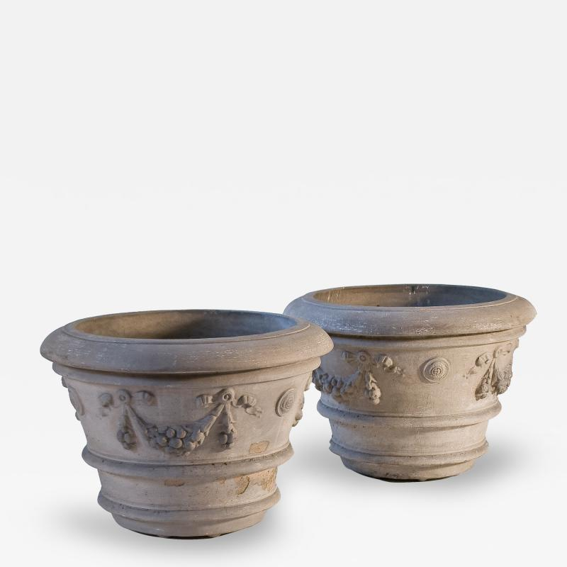 Galloway Terracotta Company Pair of Galloway Terracotta Pots