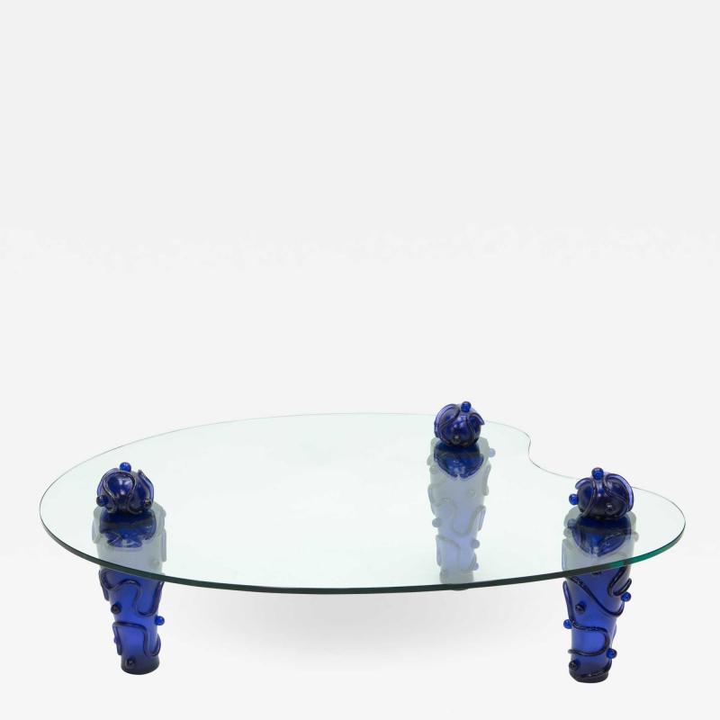 Garouste Bonetti Large signed resin glass coffee table by Garouste Bonetti 1990s