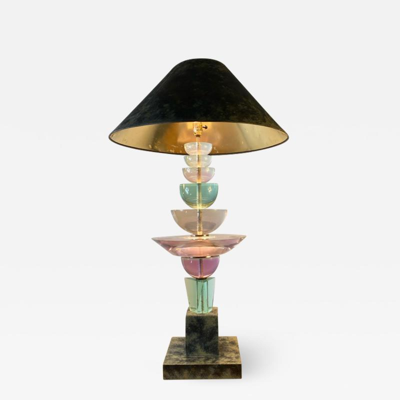 Garouste Bonetti POST MODERN JEWEL TONE RESIN LAMP IN THE MANNER OF GAROUSTE BONETTI
