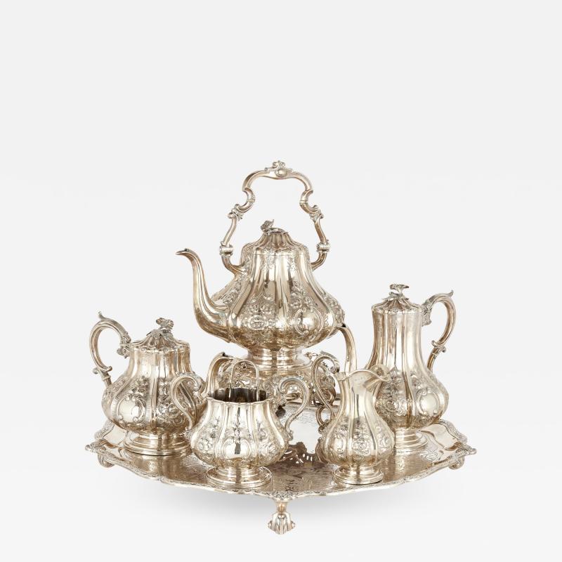 Garrard Co Six piece English silver tea and coffee service