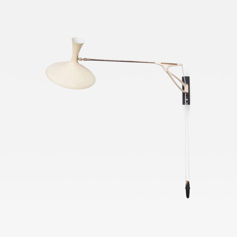 Gebr der Cosack Rare Adjustable Wall Lamp by Cosack Leuchten Germany 1950s