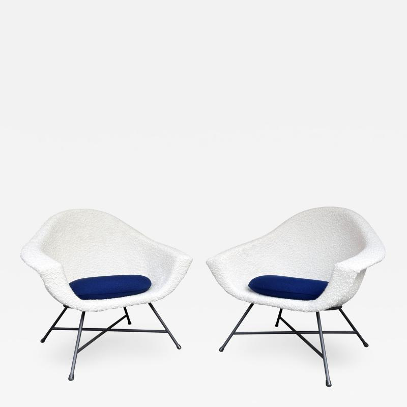 Genevieve Dangles Christian Defrance Pair of Armchairs 58 by Dangles Defrance for Burov France 1950s