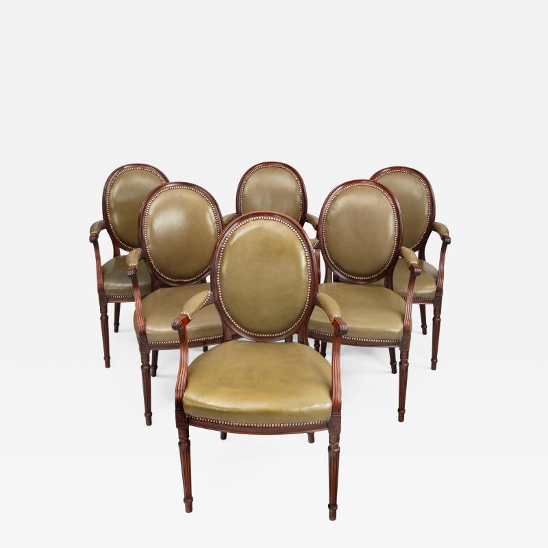 Gill Reigate Six Edwardian mahogany chairs by Gill Reigate