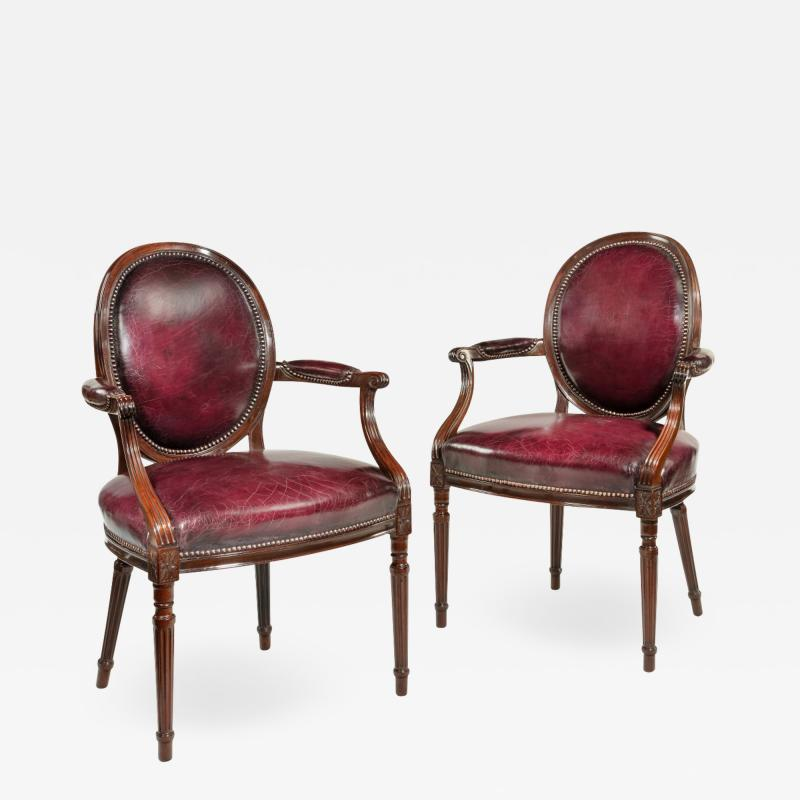Gill Reigate Two Edwardian mahogany chairs by Gill Reigate