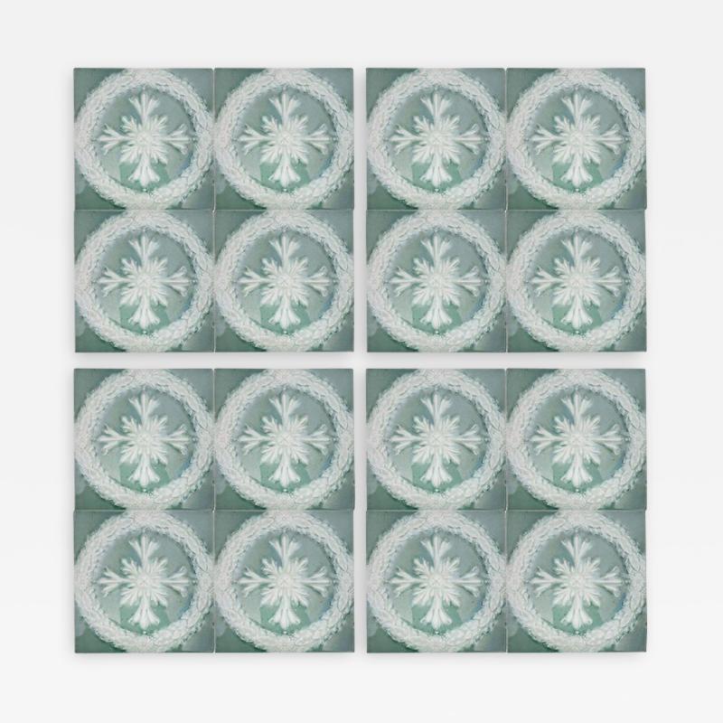 Gilliot 1 of the 30 Glazed Ceramic Art Deco Tiles by Gilliot circa 1930s