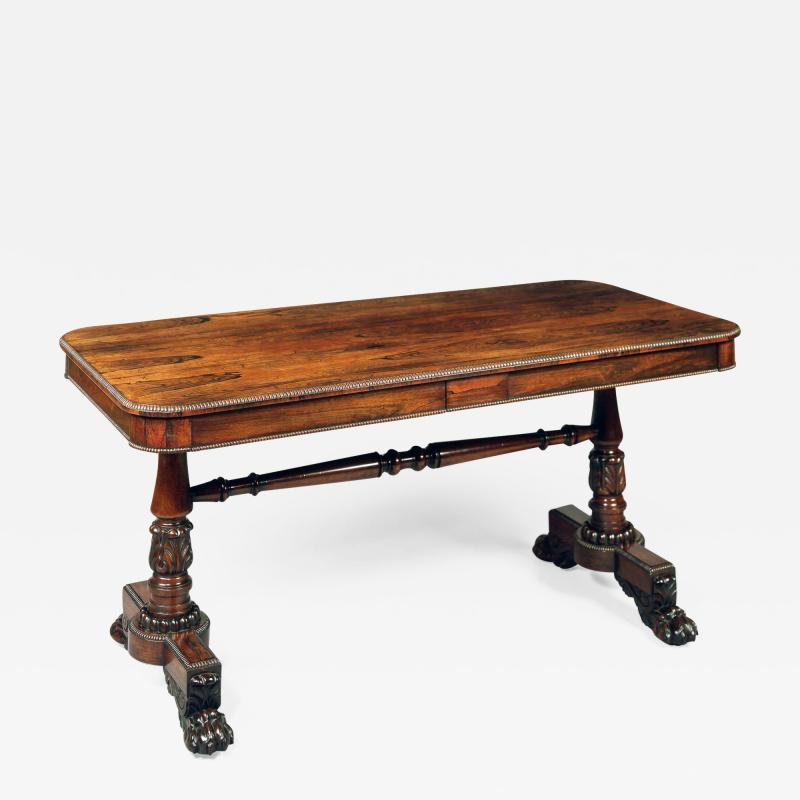 Gillows of Lancaster London Antique End Support Table Attributed to Gillows of Lancaster