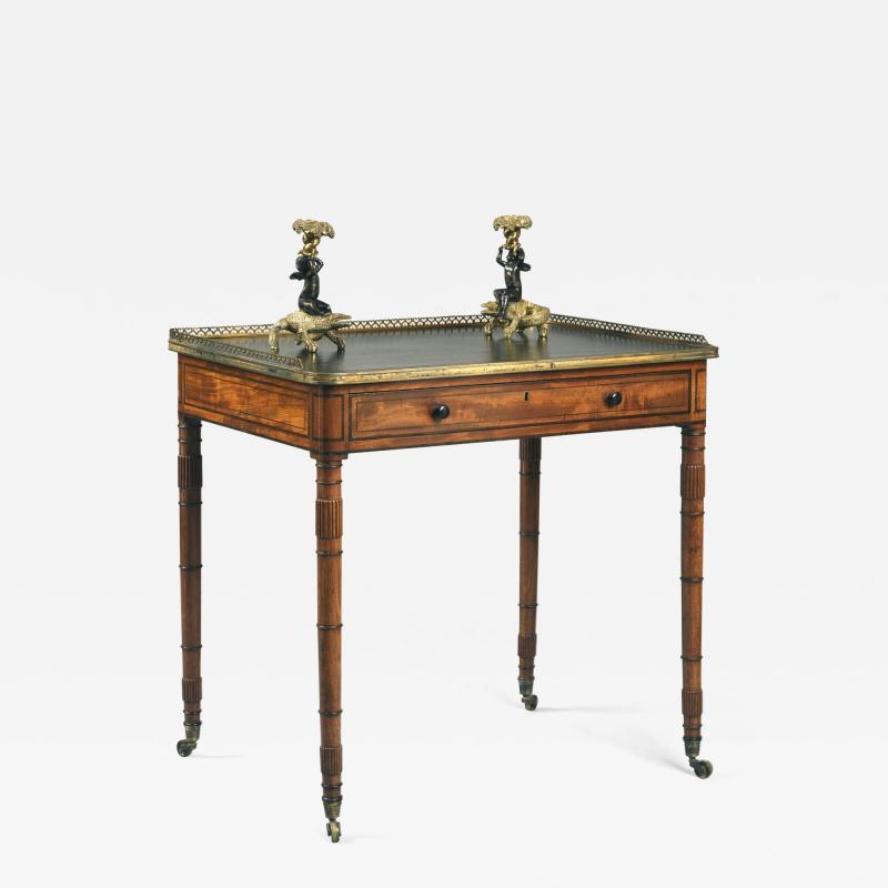 Gillows of Lancaster London Antique English Gillows of Lancaster Regency Period Mahogany Writing Table