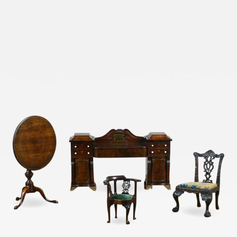 Gillows of Lancaster London English Miniature Furniture Regency Period Mahogany Sideboard of Museum Standard