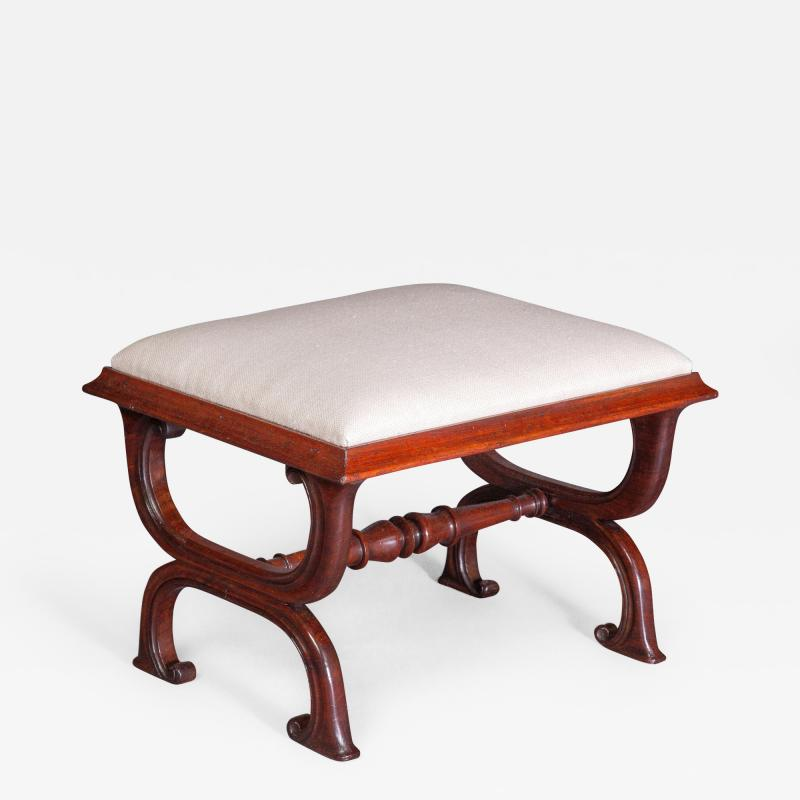 Gillows of Lancaster London Gillows Interest A Good George IV Rosewood X Frame Stool