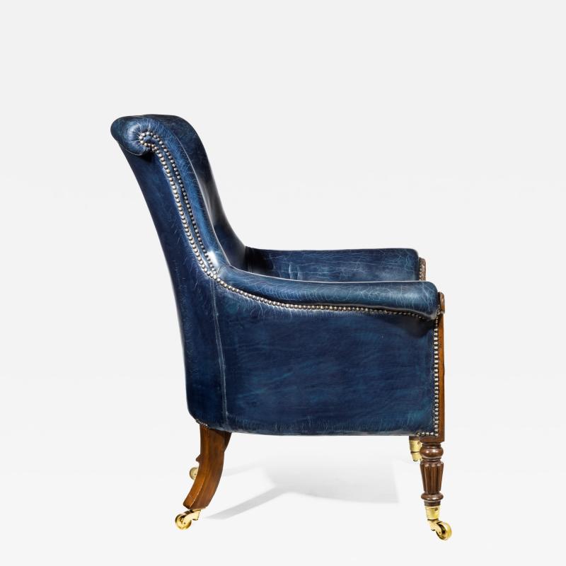 Gillows of Lancaster London Regency Mahogany Library Chair by Gillows English circa 1815