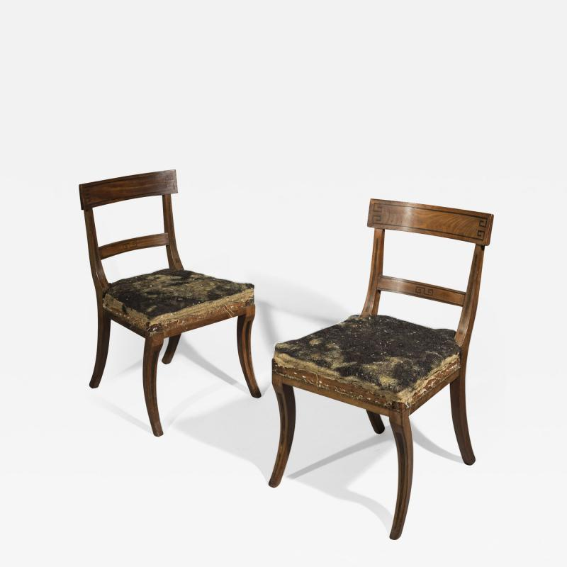 Gillows of Lancaster London Set of Six Regency Klismos Dining Chairs attributed to Gillows