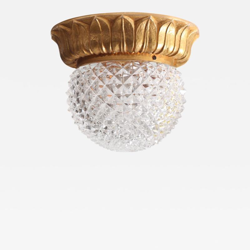 Glash tte Limburg 1 of 10 Glass Flush Mounts or Sconces on Gold Plated Base by Glashu tte Limburg