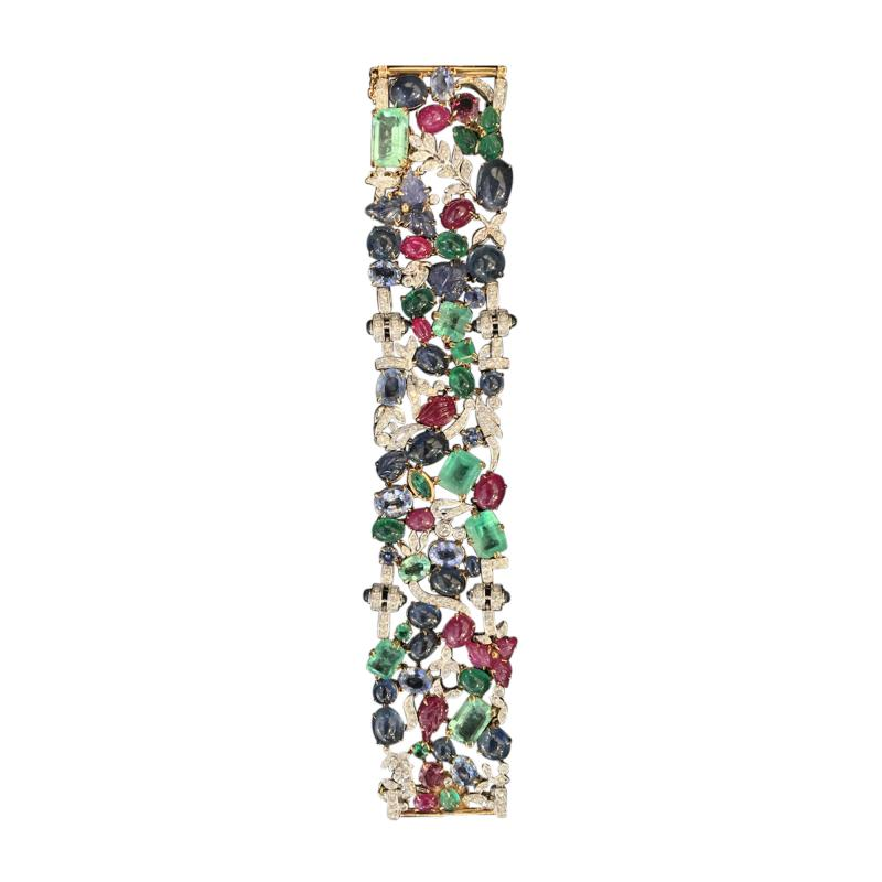 Glen Leroux Antiques Garden Bracelet signed Seaman Schepps