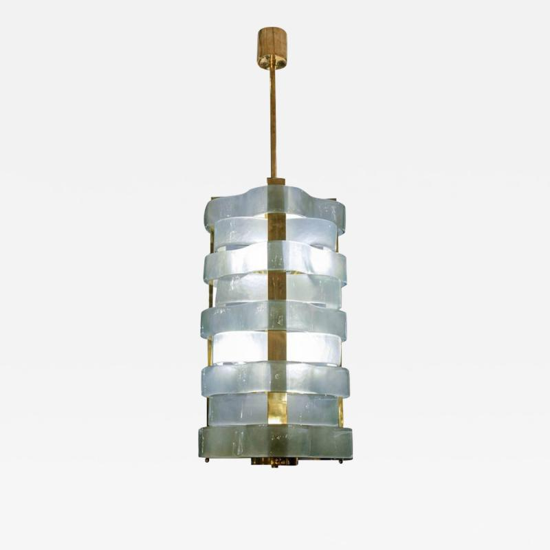 Glustin Luminaires Glustin Luminaires Creation Brass Lanterns with Murano Ribbons
