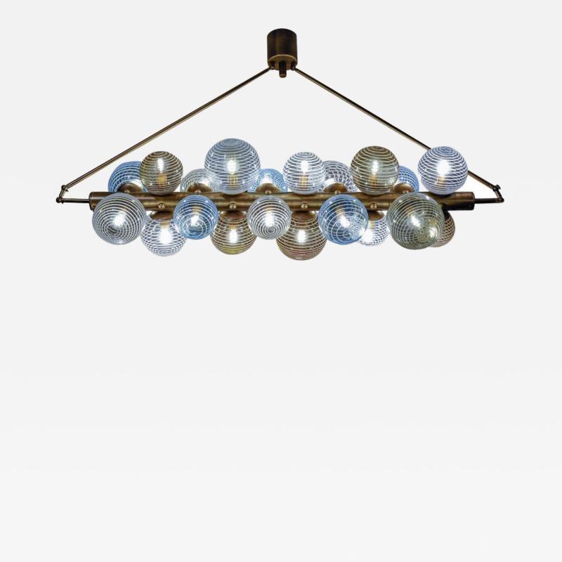 Glustin Luminaires Glustin Luminaires Creation Line Chandelier with Murano Glass Globes