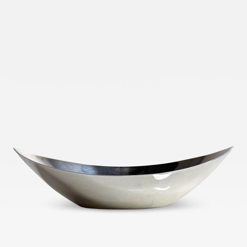 Gorham Manufacturing Co GORHAM Silverplate Serving Dish Oval Bowl Modern Midcentury