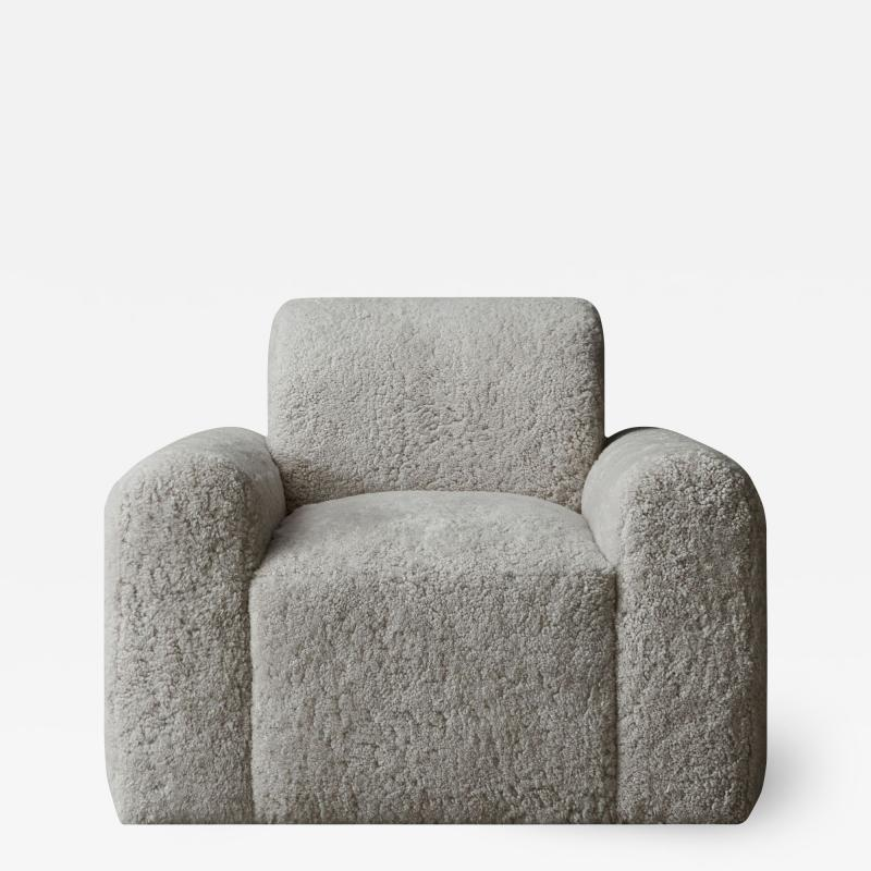Grant Trick Shearling Lounge Chair