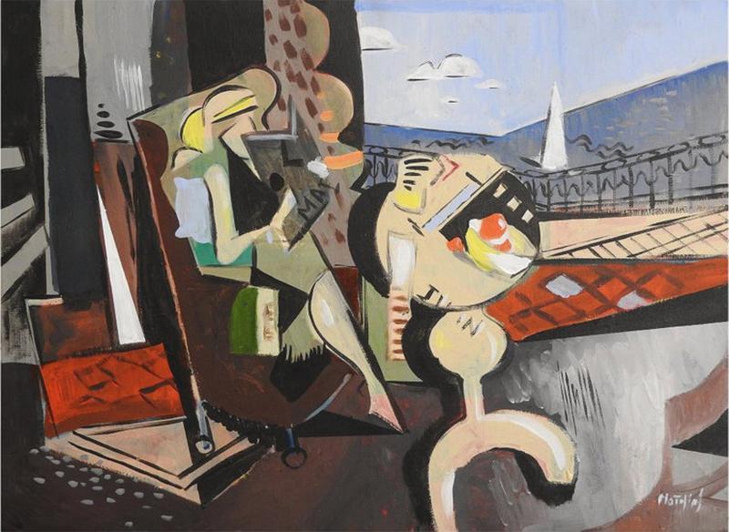 Greg Mathias Cubist Painting