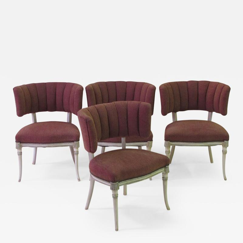 Grosfeld House An Elegant Set of 4 Grosfeld House Side Game Chairs