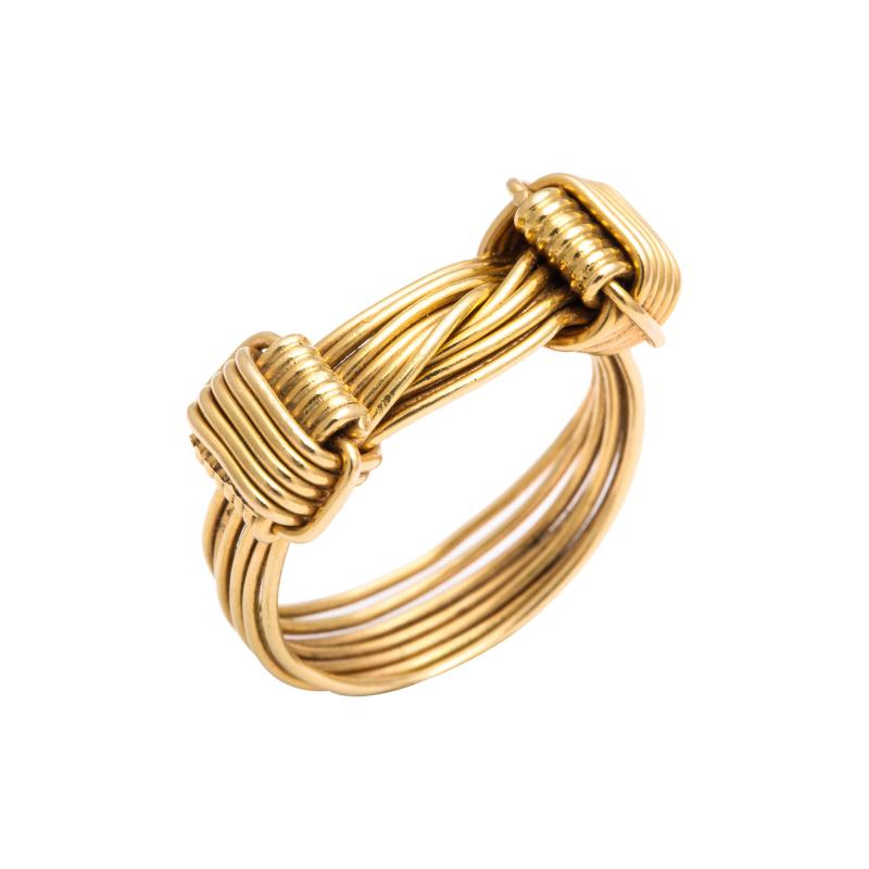Gucci 1960s Gucci Gold Wirework Ring