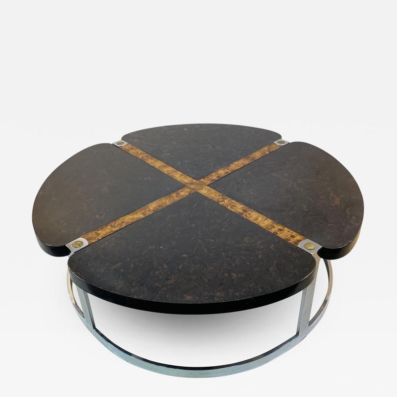 Gucci GUCCI STYLE MODERNIST STONE CHROME BRASS DESIGN COFFEE TABLE