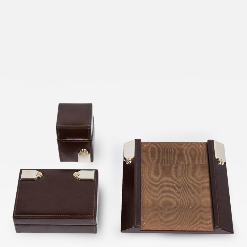 Gucci Gucci Leather Box Lighter and Notepad Holder