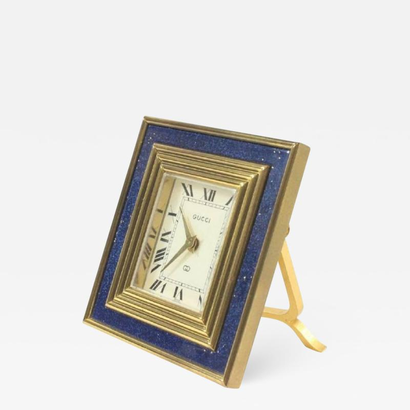 Gucci Gucci Vintage 8 Day Blue Lapis Travel Clock