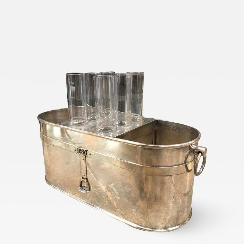 Gucci Gucci Vintage Ice Bucket with 6 Cups