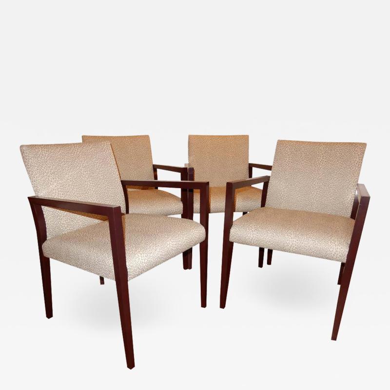 Gunlocke Four Midcentury American Made Armchairs by Gunlocke Co after Risom