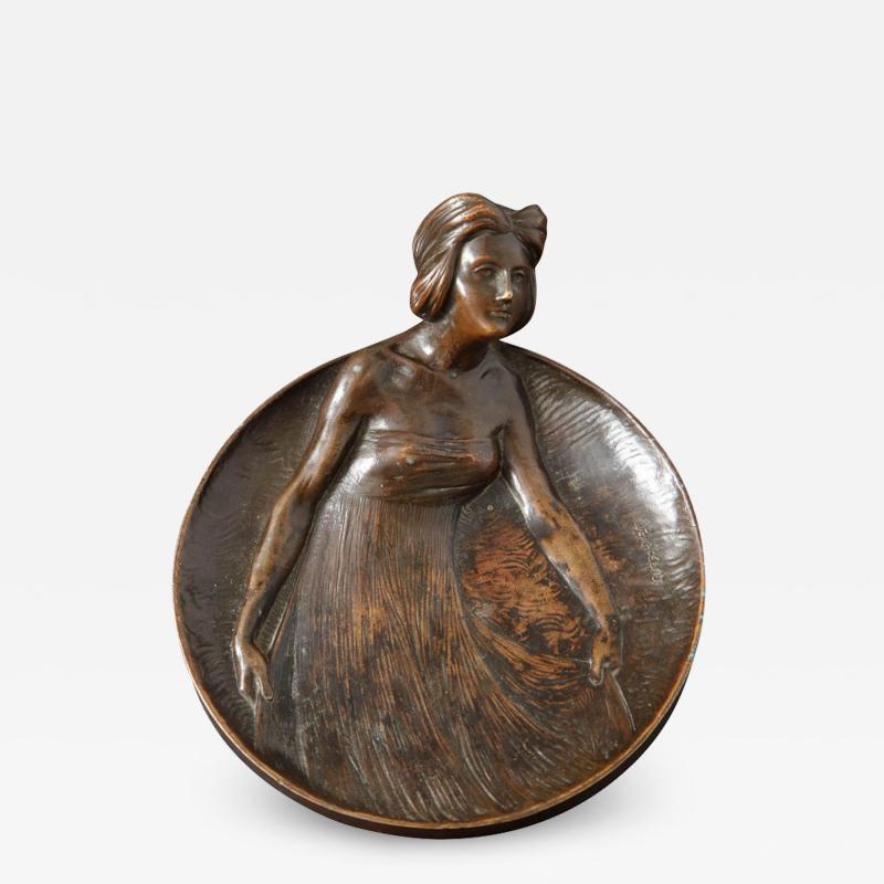 Gustav Gurschner Gustav Gurschner Bronze Figural Tray made in Austria