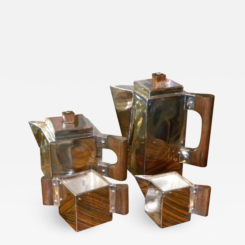 H L Linton Paris Outstanding unique cubist coffee tea service by H L Linton Paris