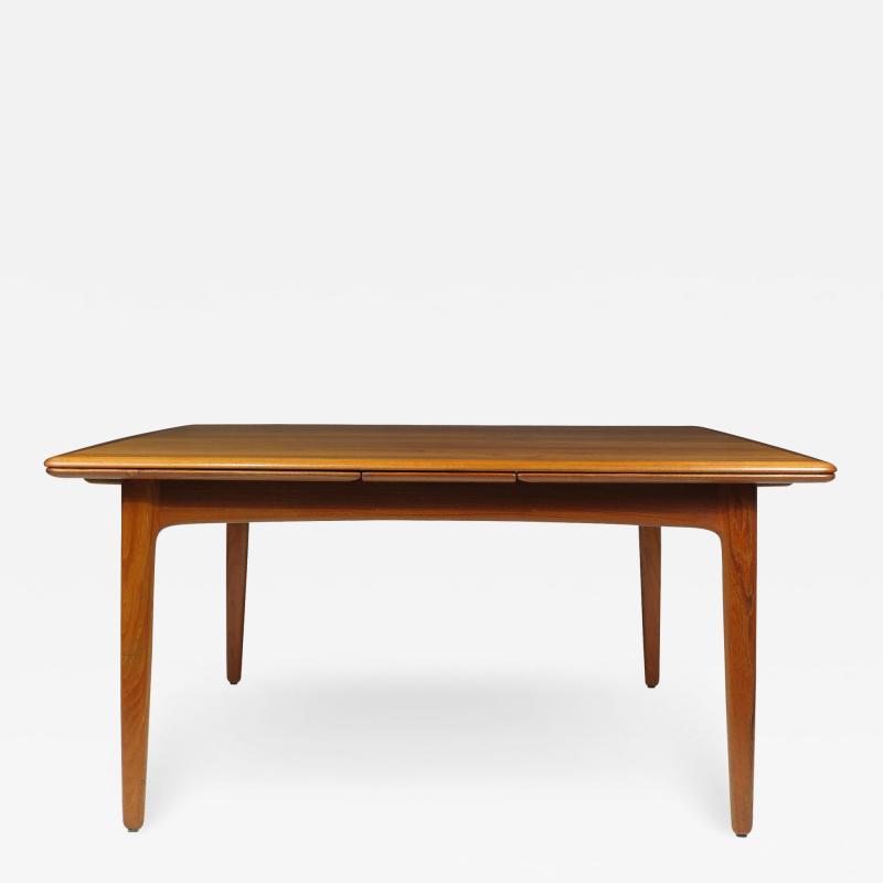 H P Hansen M belindustri HP Hansen Teak Draw Leaf Dining Table