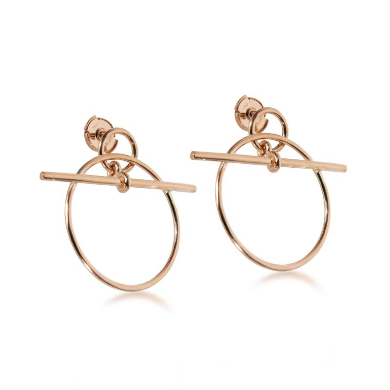 Herm s Herm s Small Model Loop Earring in 18K Rose Gold