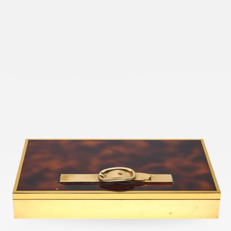 Herm s Hermes Belt Box with Tortoise Lacquer